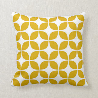 Cojín Decorativo impresión amarilla de 70s Cheveron