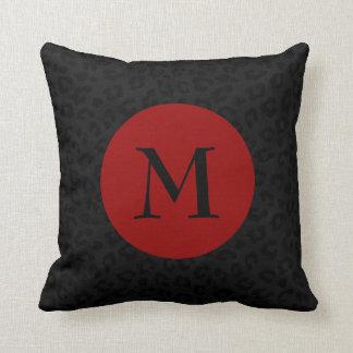 Cojín Decorativo Impresión de la pantera del monograma
