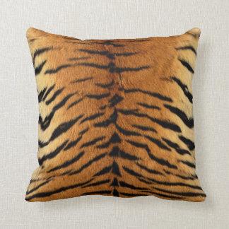 Cojín Decorativo Impresión de la piel de la raya del tigre