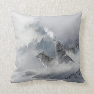 Cojín Decorativo Impresión del lobo de la nieve