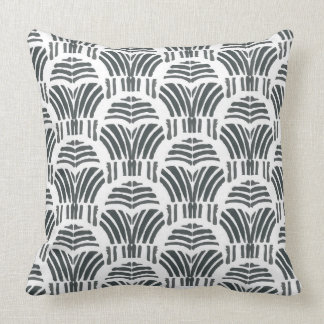 Cojín Decorativo Impresión negra de la mano de los tulipanes