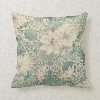 Cojín Decorativo Invernadero elegante del vintage floral