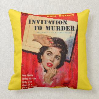 Cojín Decorativo invitación de los años 50 a asesinar