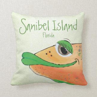 Cojín Decorativo Isla adorable salada FL de Sanibel del arte de los