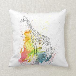 Cojín Decorativo Jirafa enrrollada multicolora (arte de K.Turnbull)