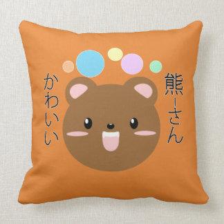 Cojín Decorativo Kawaii/almohada linda del oso (elija su color)