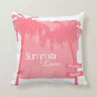 Cojín Decorativo kussen zomer palmbomen roze