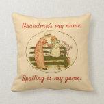 Cojín Decorativo La abuela es mi nombre. Mentir es mi juego.