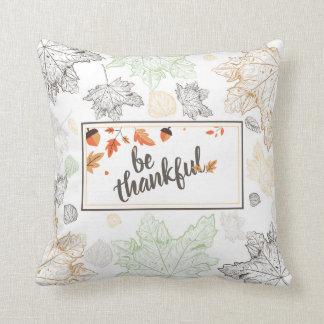 Cojín Decorativo La acción de gracias sea hojas de otoño