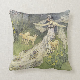 Cojín Decorativo La bella arte de Warwick Goble de la hija del