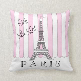 Cojín Decorativo La blanco del La de Ooh de la torre Eiffel del