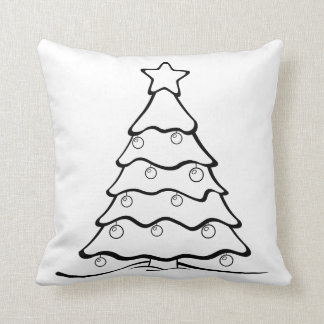 Cojín Decorativo La diversión me colorea árbol de navidad astuto