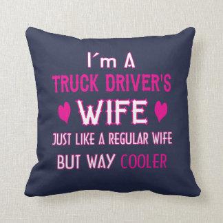 Cojín Decorativo La esposa del conductor de camión