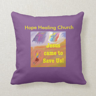 Cojín Decorativo La iglesia curativa Jesús de la esperanza ahorra