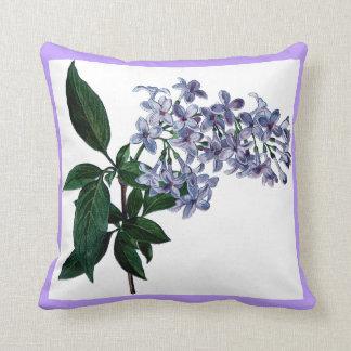 Cojín Decorativo La lila bonita florece decorativo púrpura