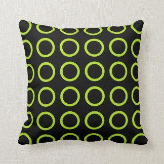 Cojín Decorativo La verde lima circunda negro