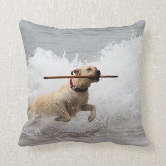 Cojín Decorativo ¡Labrador - amarillo - vaya búsqueda! Vare los
