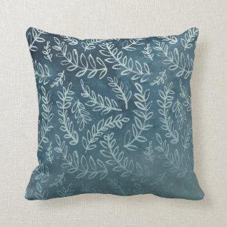 Cojín Decorativo Las hojas azules lanzan el amortiguador 41 cm x 41