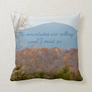 Cojín Decorativo Las montañas del Mountain View están llamando