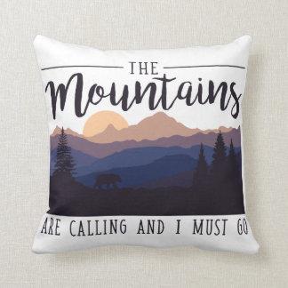 Cojín Decorativo Las montañas están llamando