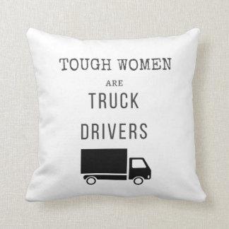 Cojín Decorativo Las mujeres duras son conductores de camión