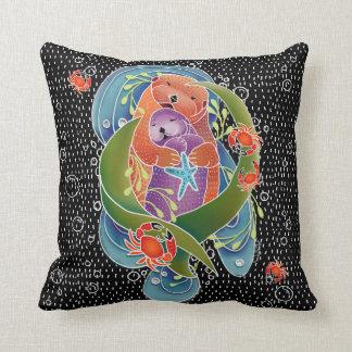 Cojín Decorativo Las nutrias de mar de BINDI soportan - elija el