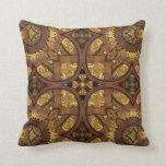 Cojín Decorativo Latón y cobre de Steampunk
