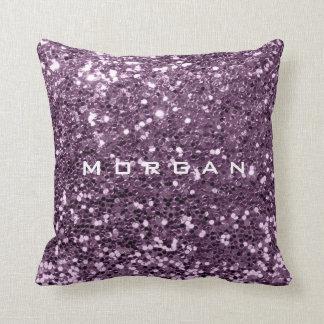 Cojín Decorativo Lavanda violeta Amethy de la lentejuela de la moda