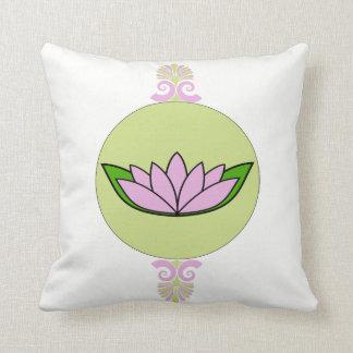 Cojín Decorativo Lavanda y flor de loto verde