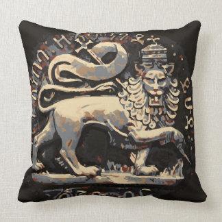 Cojín Decorativo León terroso de Rasta del diseño de Judah