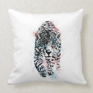 Cojín Decorativo Leopardo, leopardo de la acuarela