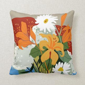 Cojín Decorativo Lillies y margaritas