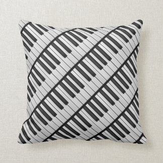 Cojín Decorativo Llaves negras y blancas del piano