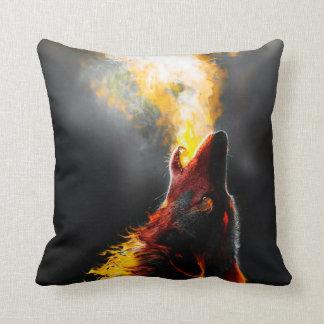Cojín Decorativo Lobo del fuego