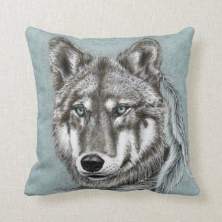 Cojín Decorativo Lobo gris