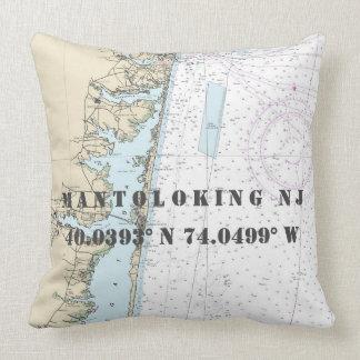 Cojín Decorativo Longitud náutica de la latitud de la carta: