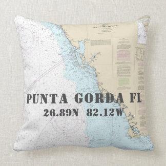 Cojín Decorativo Longitud náutica Punta Gorda FL de la latitud de