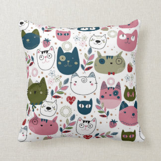 Cojín Decorativo Los gatos lindos lanzan el amortiguador 41 cm x 41
