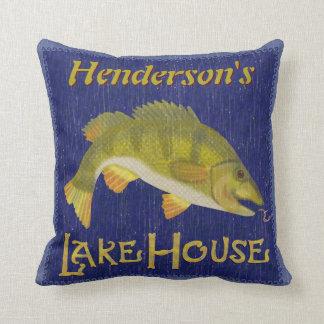 Cojín Decorativo Los pescados bajos náuticos rústicos de la casa