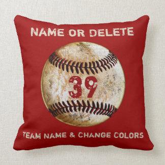 Cojín Decorativo Los regalos del equipo de béisbol personalizaron