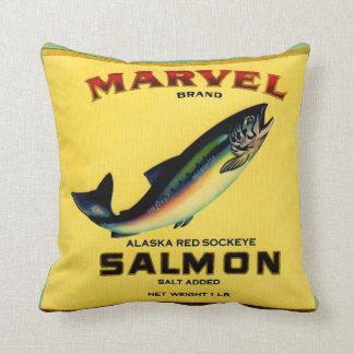 Cojín Decorativo los salmones de la maravilla de los años 30 pueden