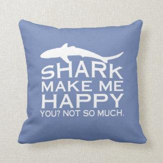 Cojín Decorativo Los tiburones me hacen feliz