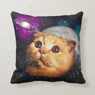 Cojín Decorativo luna del gato, gato y luna, catmoon, gato de la