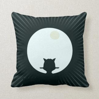 Cojín Decorativo Luna Llena del gato negro