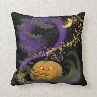 Cojín Decorativo Magia de Halloween - Jack-o-Linterna, palos, y