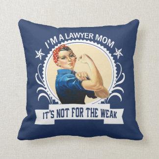 Cojín Decorativo Mamá del abogado - no para el débil