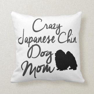 Cojín Decorativo Mamá loca del perro de Chin del japonés