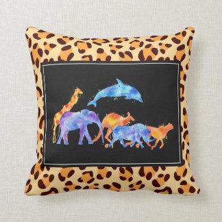 Cojín Decorativo Manada del animal salvaje en modelo del estampado