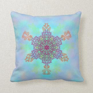 Cojín Decorativo Mandala del caramelo del arco iris
