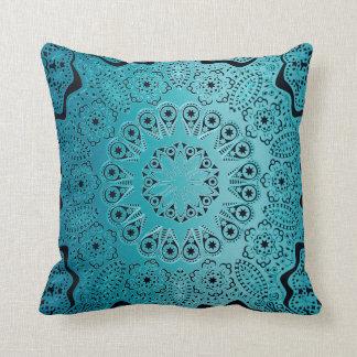 Cojín Decorativo Mandala del verde de azules turquesas